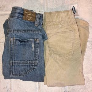 Lot of 2 Pairs of Toddler Jeans / Corduroy Pants